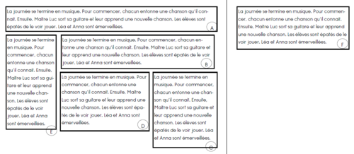 Distinguer lignes et phrases