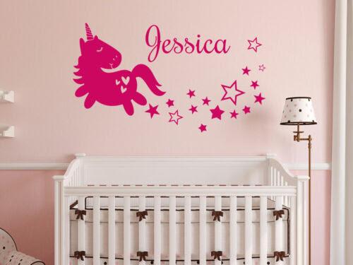 Einhorn Wandtattoo Name Kinderzimmer Madchen Zimmer Sterne Personalisiert Deko Home Garden Home Decor
