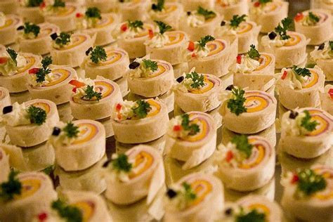 Pinwheels are an easy appetizer for your wedding, but can