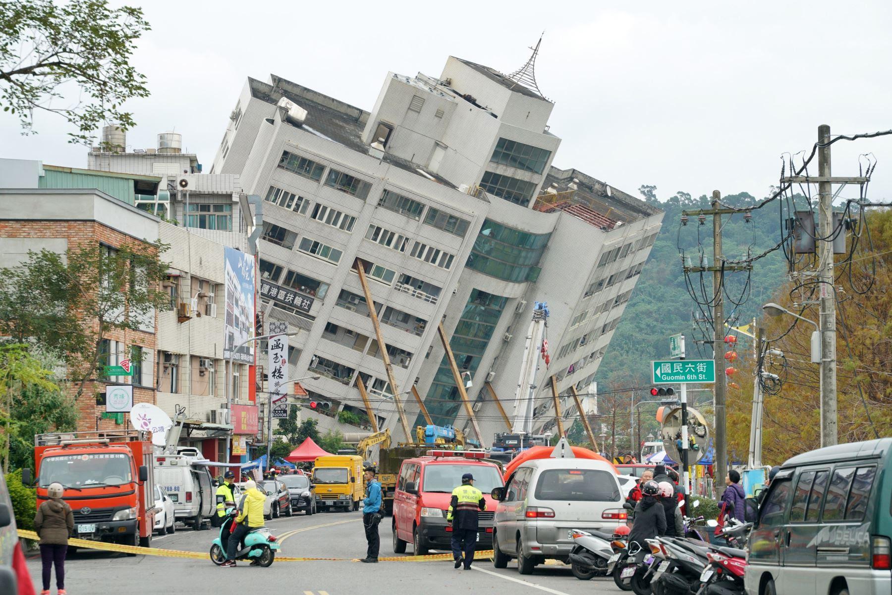 Resultado de imagen para Terremoto en Taiwán: seis muertos y más de 200 heridos