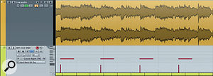Once the 'tapping' MIDI track is recorded, the Edit In Place option makes it easier to line up the MIDI events to obvious transients in the audio.