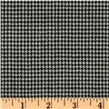 Wool Suiting Houndstooth Black/White