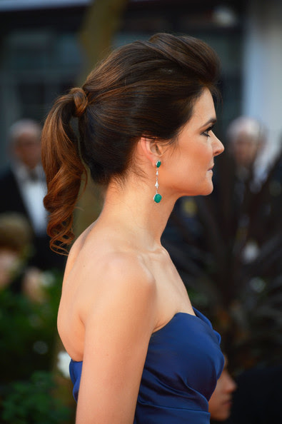 Actress Betsy Brandt (hair details) at the 64th Annual Primetime Emmy Awards at Nokia Theatre L.A. Live on September 23, 2012 in Los Angeles, California.
