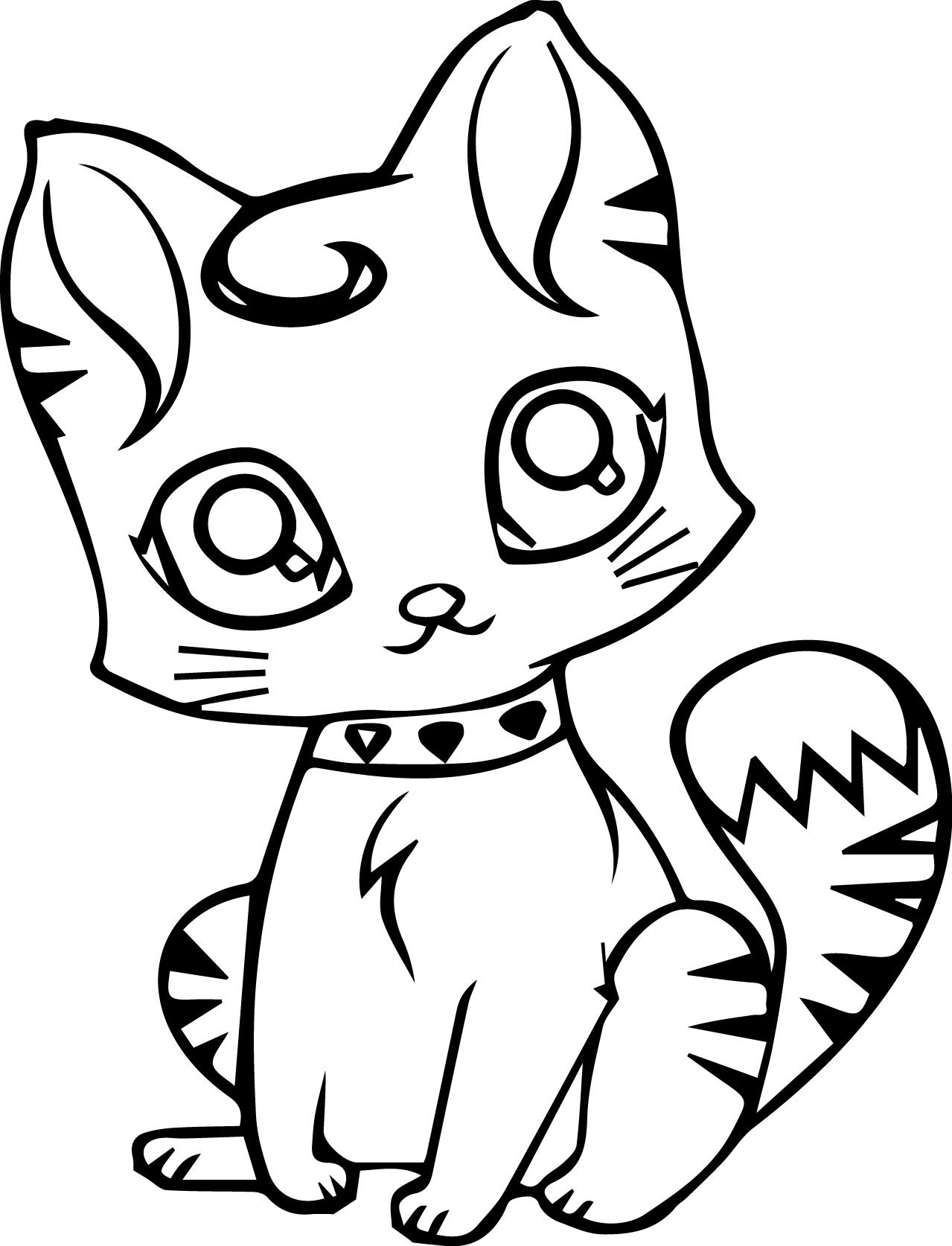 6500 Coloring Pages Of Cats For Preschoolers  Images