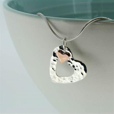 Handmade Personalised Copper Heart Pendant   Carole Allen