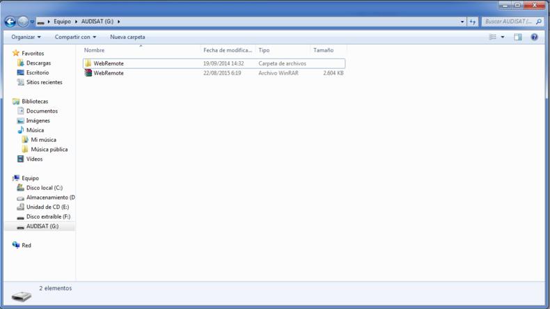 Receptor Audisat A3 plugin web Remote img 5