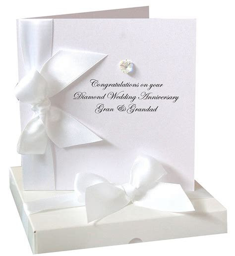 bedazzled personalised diamond wedding anniversary card by