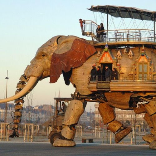 Just Another 47 Passenger Carrying Mechanical Elephant Via Les Machines de L'ile