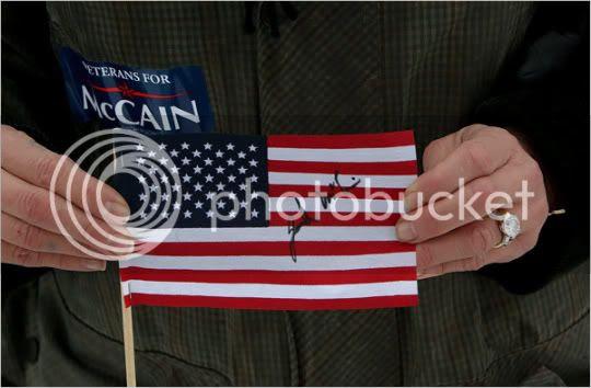 McCain Autographed Flag