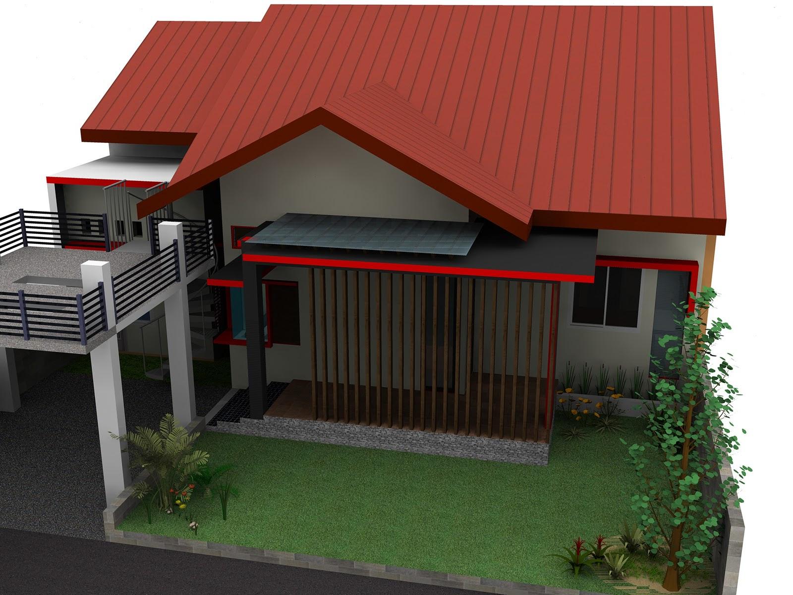 Rumah Minimalis 1 Lantai Atap Miring Desain Rumah Minimalis