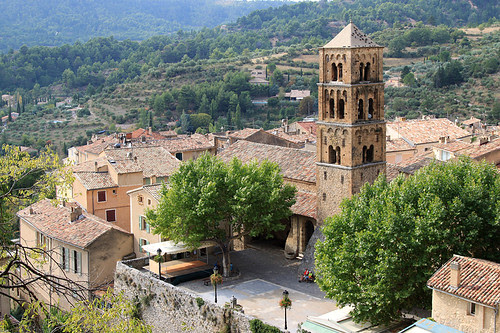 Views over Moustiers-Sainte-Marie from the Chapelle above the village
