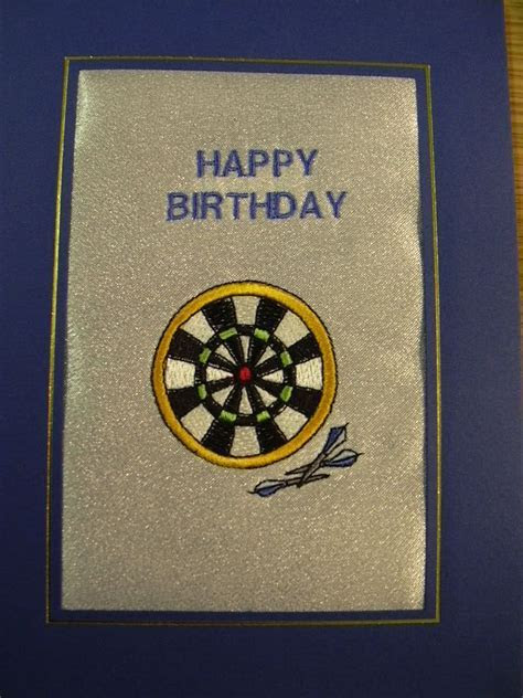 HAPPY BIRTHDAY   Darts and Dart Board   Cards