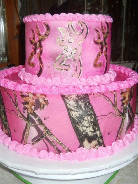 17 Best images about Pink camo cake on Pinterest   Pink