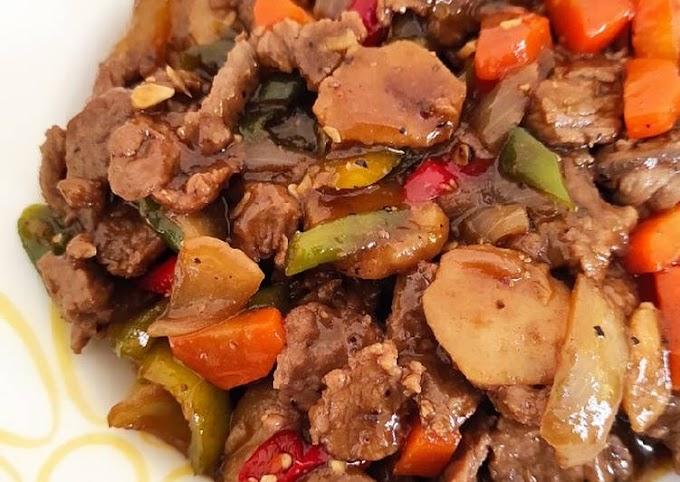 Recipe for Making Beef, Black Pepper, High Taste