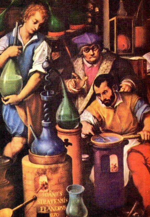 Stradanus, El laboratorio del alquimista, 1571