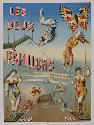 Les Deux papillons - circus poster