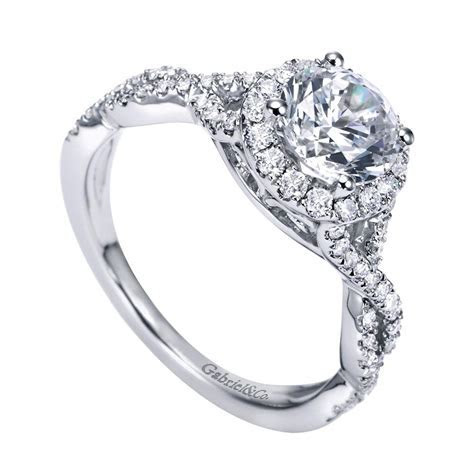 Gabriel & Co. Engagement Rings Diamond Halo .42ctw Setting