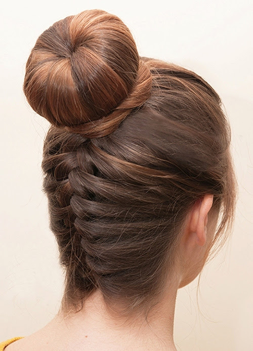 braided homecoming updo with a bun