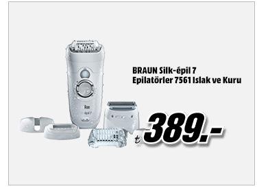 BRAUN Silk-épil 7 Epilatörler 7561 Islak ve Kuru 389TL