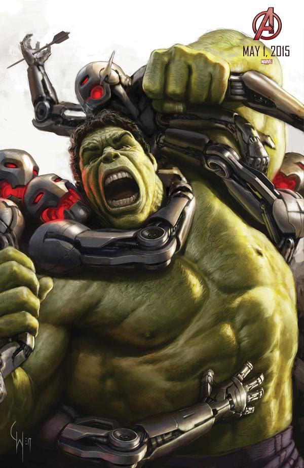 "Hulk en el Poster de ""Los Vengadores : La Era de Ultron"""