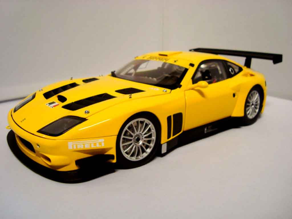 Diecast Model Cars Ferrari 575 Gtc 1 18 Kyosho Evoluzione 2005 Yellow Alldiecast Us