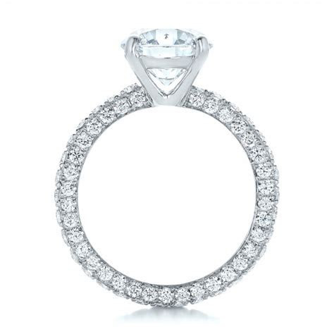 Custom Pave Diamond Eternity Engagement Ring #102143