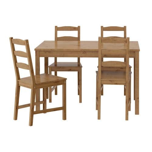 JOKKMOKK Tafel en 4 stoelen IKEA Massief grenen; een natuurmateriaal dat steeds mooier wordt.