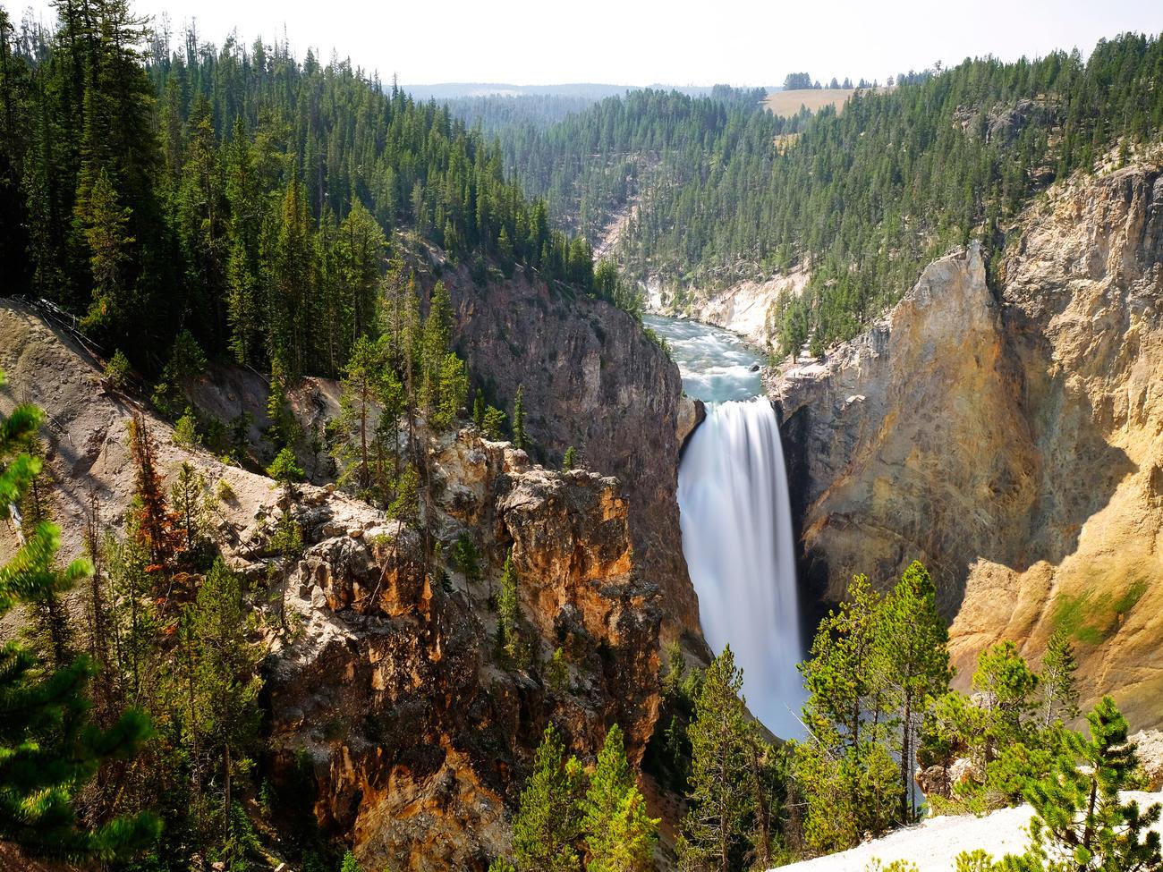 yellowstone falls yellowstone national park sun 0716