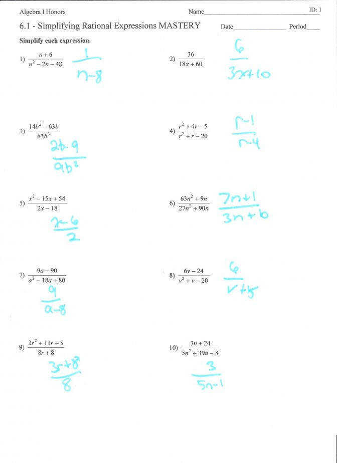 Solve Rational Equations Worksheet Tessshebaylo