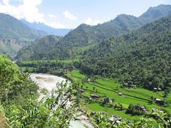 Myagdi Khola valley near Beni