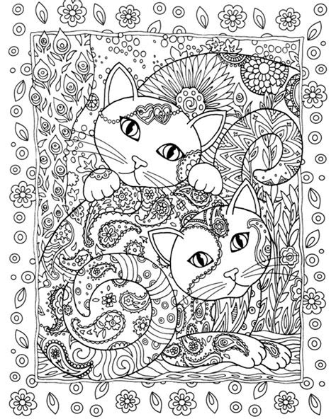 creative cats coloring book  adults ginger plaza