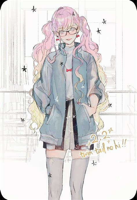 pink pigtails twin tails bomber jacket anime lolita