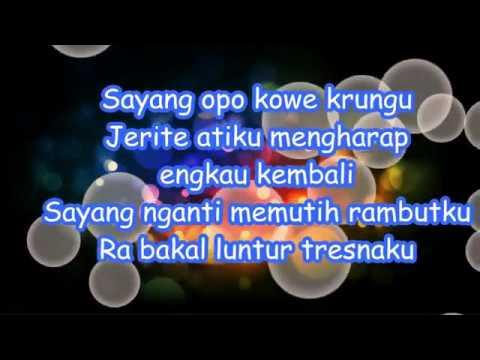 Lirik lagu ndx a k a - sayang dan Terjemahannya