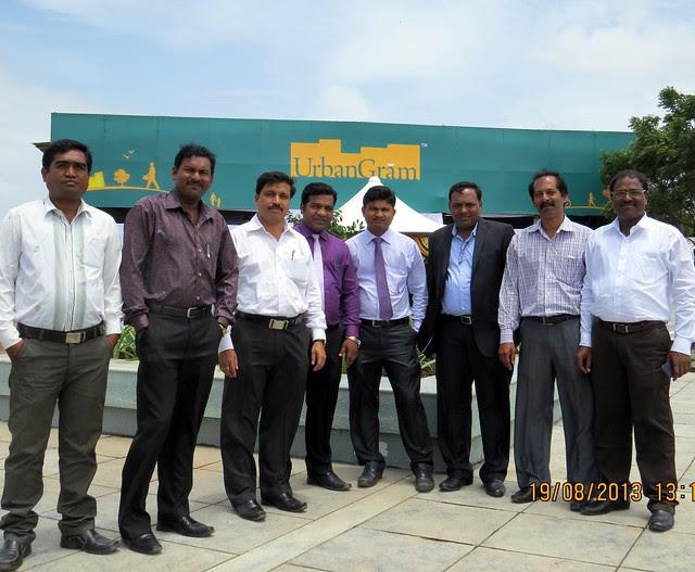 Anant Budhwale, Sr Elect Engr; Avinash Kamble, Chief Engr; Ulhas More, Legal; Sachin Joshi, Asst Mgr Sales; Rohit Bandagle, Sales Exec; Ravindra Gope Sr Mgr Purchase; Pravin Patil, Chief Engr; Balasaheb Lagad, Chief Engr,; at UrbanGram Shirwal