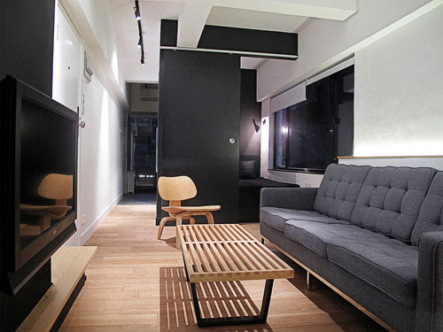 Hong Kong Apartment with Space Invaders Bathroom by ...