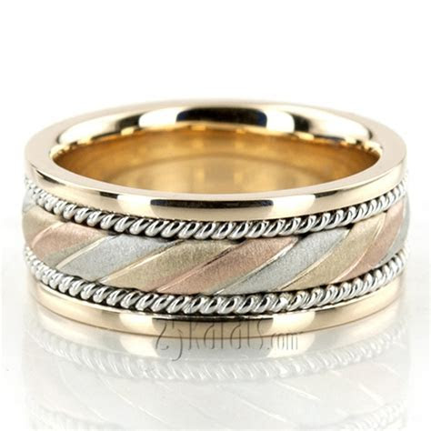 Exclusive Three Color Hand Woven Wedding Band   HC100147