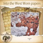 Into the West worn papers