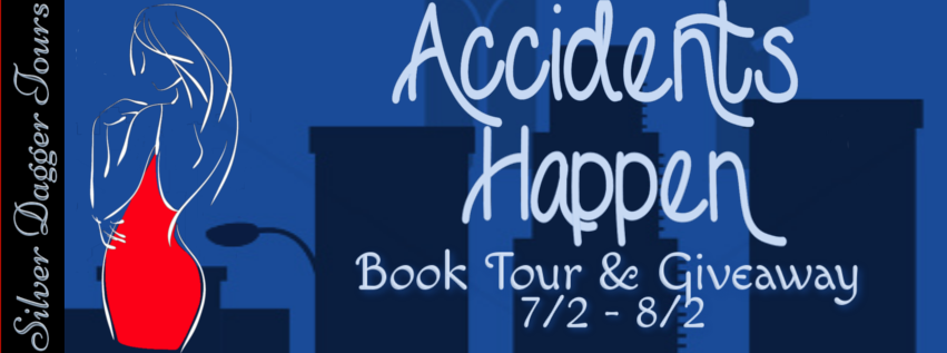 Book Tour Banner for paranormal romance Accidents Happen by Sharon Karaa with a $10 Amazon Gift Card Giveaway