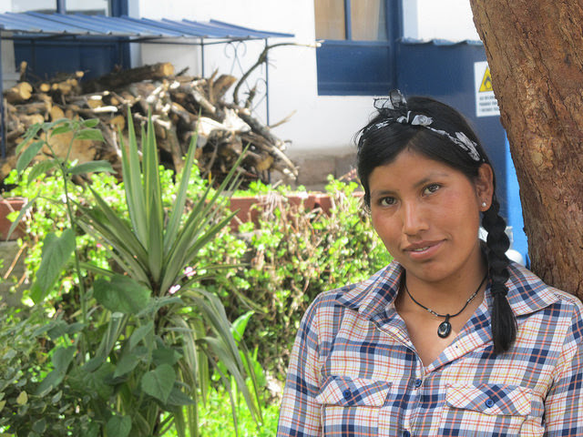 After graduating as an agronomist, agroecological farmer Janed Nina returned to her community, Saclla, high in the Peruvian Andes, to apply her knowledge on the family farm and also share it with other local farmers. Credit: Mariela Jara / IPS