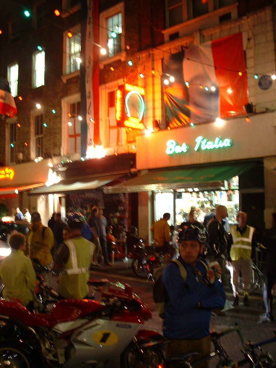 Cafe Italia on Frith Street, 3.30am