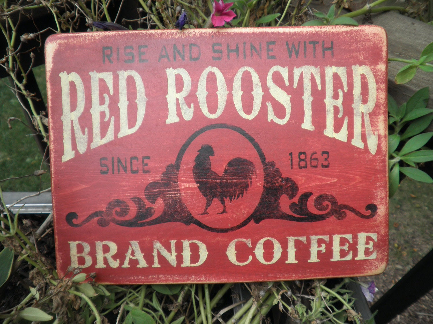 Popular items for red rooster coffee on Etsy