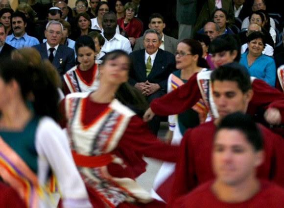 Raúl en la Fiesta de las Luminairas de la Comunidad Hebrea de Cuba  Foto: Ismael Francisco