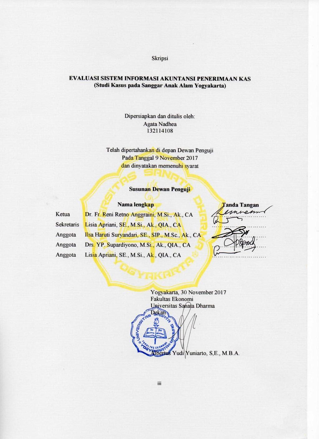 Skripsi Sistem Informasi Akuntansi Penerimaan Kas Pejuang Skripsi