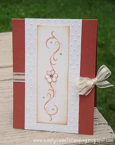 Swirl Wedding Card
