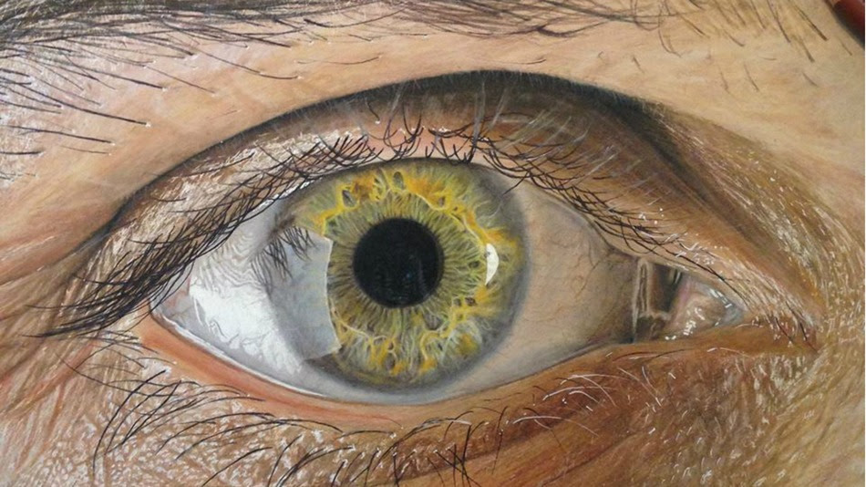 Beautiful realistic eye drawing