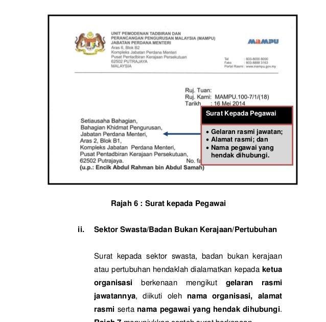 Contoh Surat Rasmi Kepada Ketua Menteri Sabah Surat Rasmi F