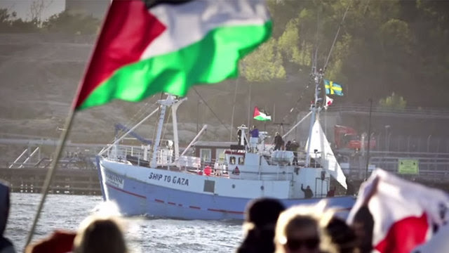 Marianne av Göteborg on its way to Gaza.