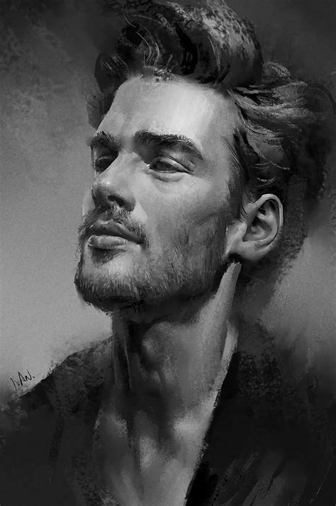 practice ivan figurative art male head bearded