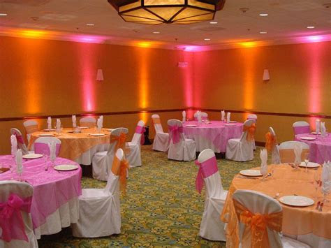 Orange and Pink Party Ideas   Wedding shower decorations