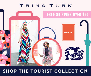 New from Trina Turk: Style out your wardrobe with bold florals, multicolor stripes and tilework motifs with new pieces!